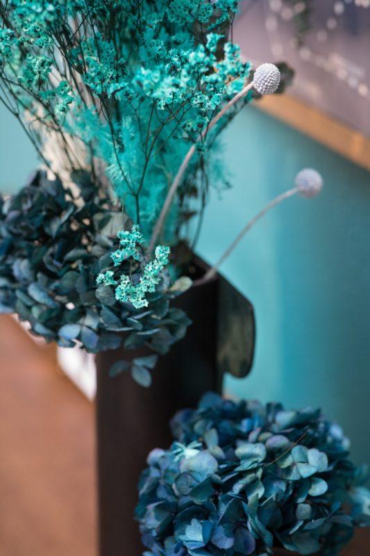 Bouquet en fleurs stabilisées Aqua - Rodanthe - Design en fleurs stabilisées