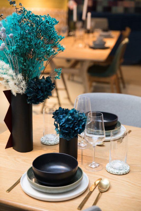 centre de table en fleurs stabilisées pour restaurants d'exception