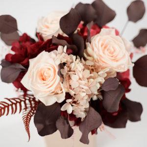 Bouquet en fleurs stabilisées Cinabre S - détail