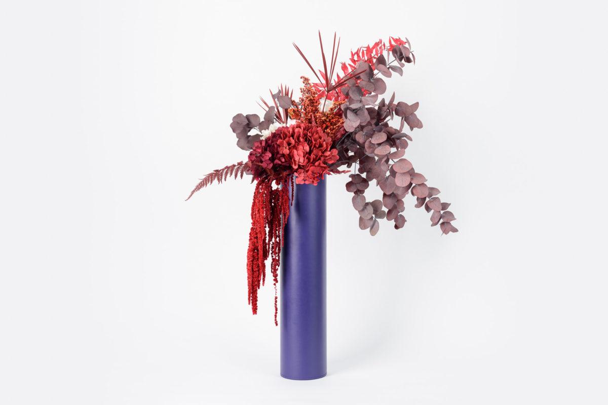 Bouquet en fleurs durables Cinabre L - Décoration en fleurs stabilisées