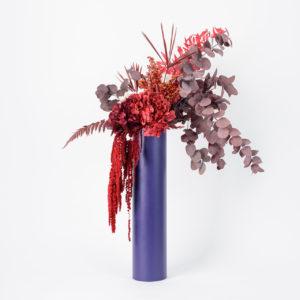 Bouquet Colonne Cinabre en fleurs stabilisées