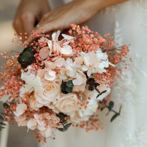 Bouquet de mariée Confetti en fleurs stabilisées