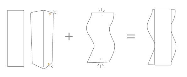 Mode d'emploi : vase et cuir amovible vague