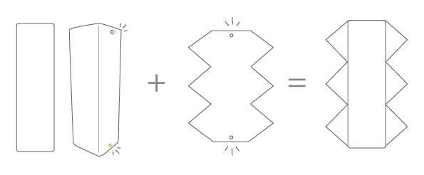 Mode d'emploi : vase et cuir amovible triangle